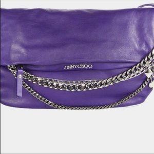 Jimmy choo PURPLE chain BIKER bag